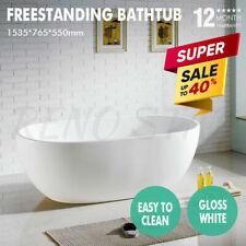 1535*765*550mm Freestanding Bathtub Gloss Sleek White Oval for Bathroom Big Sale