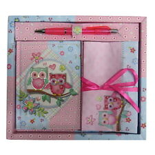 Girls Writing Stationery Set - Diary, Letters, Envelopes & Pen - Sparkle Owls