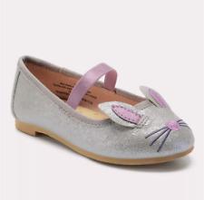 Toddler Girls' Revah Glitter Ballet Flats - Cat & Jack™ Silver Toddler Girl 5