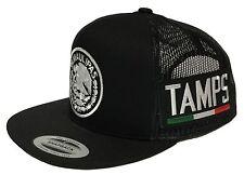 TAMAULIPAS MEXICO HAT 2 LOGOS  BLACK MESH SNAPBACK ADJUSTABLE NEW HAT