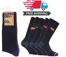 Superdry Mens City 5 Pack Socks Navy O/S