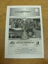 27/05/2008 Programme: Sports Tours - South Coast Championship [At White Horse] U