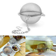 Stainless Steel Tea Infuser Spice Ball Strainer Mesh Tea Filter Spoon Locking YJ