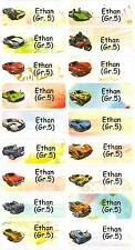 Personalized Waterproof Name label sticker, Hot Wheel Qty20 Large