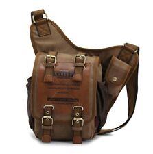 KAUKKO Men's Backpack Retro Canvas Travel Shoulder Bags Messenger Cross body Bag