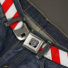 Buckle-Down Unisex-Adult's Seatbelt Belt Candy Cane XL, Stripe White/red