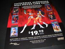 DIRTY PAIR Lily C.A.T. GREAT CONQUEST etc ANIME Promo Poster Ad SATURDAY MORNING
