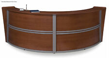 Round Reception Desk Station Available in 3 Colors Free Shipping 10 by 4 feet
