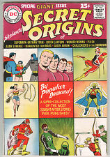 SECRET ORIGINS No. 1 1961 One owner,GIANT SIZE DC FLASH, GREEN LANTERN