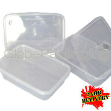 150 x PLASTIC 500ml MICROWAVE FOOD TAKEAWAY CONTAINERS