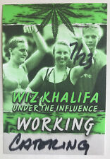 WIZ KHALIFA UNDER THE INFLUENCE WORKING Backstage Pass Sticker Badge UBER-RARE!