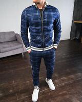 Herren Jogger Trainingsanzug Casual Hose Jacke Sweatsuit Hip Hop Sweatshirt Set