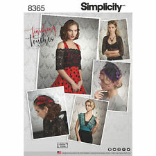 Simplicity 8365 Fascinators Shrugs Tops Cosplay, Steampunk Goth Sewing Pattern