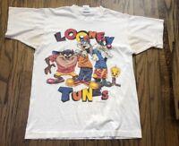 Vtg Fruit of the Loom 1996 Looney Tunes Mens Short Sleeve T Shirt Size Medium