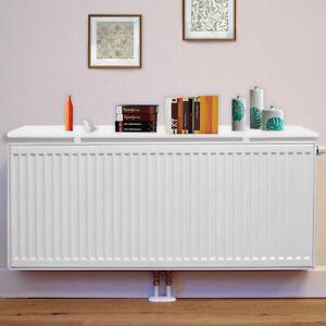 New Round Radiator Shelves Shelf 60cm/90cm MDF Included Brackets corners UK