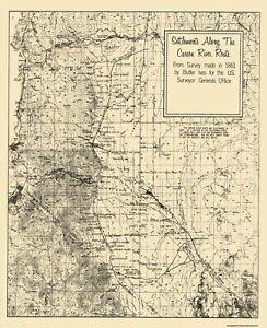 Carson Nevada River Settlement - Ives 1861 - 23 x 28.25