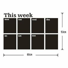 Weekly Planner Calendar Blackboard Removable Wall Sticker Chalk Board Decal CT