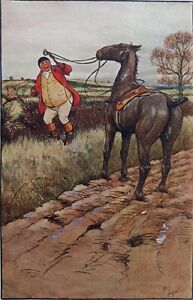 Cecil Aldin Equestrian 1911 print. Victorian scene Handley Cross. Surtees novel.