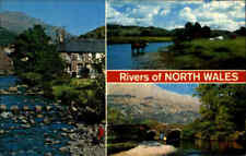 Postcard Flüsse Rivers of North WALES ua. River Fluss Glaslyn, Conway, Bathania