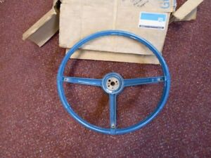 NOS PONTIAC 1967 GTO FIREBIRD DELUXE STEERING WHEEL IN MARINER TURQUOISE