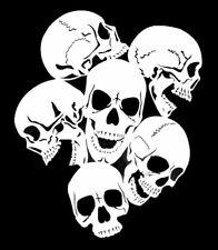 high detail airbrush stencil group of skulls FREE UK POSTAGE