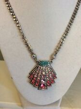 Betsey johnson Ocean Drive Pave Crystal  Shell Pendant $48 BE 1