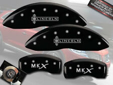 "2007-2010 ""Lincoln MKX"" Front + Rear Black MGP Brake Disc Caliper Covers 4pc Set"