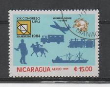 D164 Nicaragua 2521 gestempeld Vliegtuigen