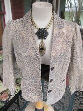 Bagatelle Leather Leopard Print Jacket Sz M- Perfect NWOT!