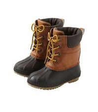 GAP Baby / Toddler Boys 9T / 10T 3M Brown Thinsulate Waterproof Duck Snow Boots