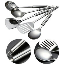 Stainless Steel Spoons Shovel Spatula Cooking 5Pcs Tools Kitchen Supplies Set