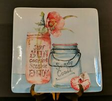 """New listing Nwt Certified International """"My Beach Inspiration"""" Square Platter by Lisa Audit"""