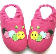 caterpillar fuchsia 4-5 Toddler Minishoezoo soft sole leather shoes slippers