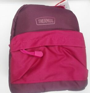 """Thermos Lunch Bag """"BPA&PVC Free"""" Insulated Pink and Purple Lunch Box 2 Pockets"""