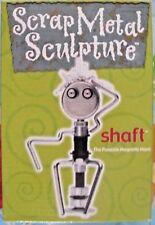 "Scrap Metal Sculpture ""Shaft"" The Posable Man 2001 Hog Wild  Free Shipping NISP"