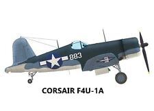 "Model Airplane Plans (UC): Corsair F4U-1a 1/12 Scale 41""ws for .60 (Musciano)"