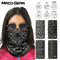 Paisley Print Seamless Motorcycle Balaclava Shield Face Mask Neck Gaiter Scarf