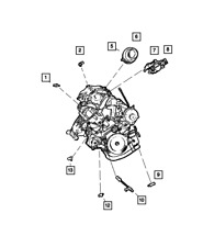 Genuine MOPAR Map Sensor 56041018AD