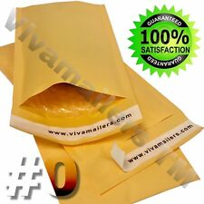 50 #0 6 x 10 Kraft Paper Bubble Padded Envelopes Mailers 6