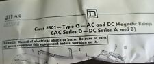 SQUARE D 8501 GO-80 - AC CONTROL RELAY - OPEN TYPE - 110/120V 8 N.O. NEW SURPLUS