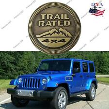 Car Auto Trail Rated 4x4 Metal Emblem Vintage Badge Sticker for Jeep Wrangler