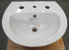 New Stylus 3 Tap Hole Wall Hung BASIN Small Bathroom China White Venecia 450