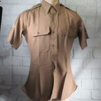 Vintage Korean War Era US Army Khaki Shirt w/ Sergeant 1st Grade Patches