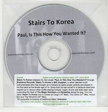 (GU164) Stairs To Korea, Paul Is This How You Wanted It? - 2010 DJ CD