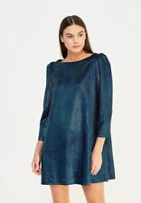 Women's FREE PEOPLE size MEDIUM M Diamonds Metallic Knit Pullover Dress NEW NWT