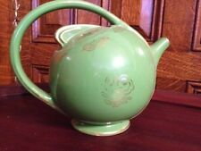 Vintage Hall Art Deco 6 Cup Teapot Air Flow Green And Gold 0452