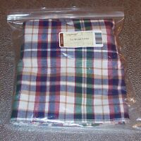 Longaberger Woven Traditions Plaid LARGE WORK LOAD Basket Liner ~ USA ~ New!