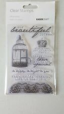 Kaisercraft Rubber Stamp Clear Cling  Oh So Lovely Set