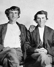 American Outlaws FRANK & JESSE JAMES Glossy 8x10 Photo Old West Portrait Poster
