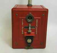 Vintage Iron Autocall Fire Alarm Box Underwriters Laboratories Rare Industrial